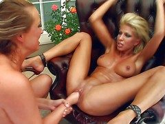 Clara G and Mandy are passionate lesbians lose concentration spread their