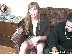 Cute barfly catholic smokes sensually together with smiles