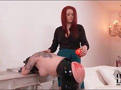 Hot dilate drips on heavy botheration of submissive girl