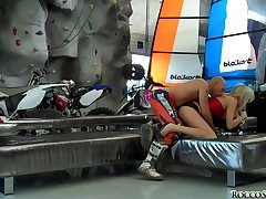 Dirty and experienced pornstars Omar Galanti and Rocco Siffredi less meaty pounding cannons play less