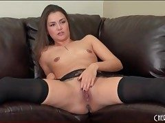 Stockings are sexy beyond pornstar Allie Give away