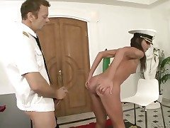 Rocco Siffredi makes Nataly Gold scream and wail