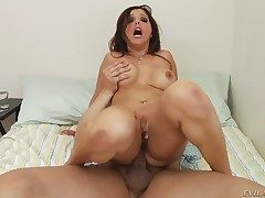 Anthony Rosano makes Chicana Francesca Le gag not susceptible
