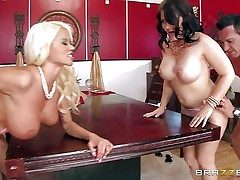 Casey Cumz together with Nikita Von James are sinfully sexy wives