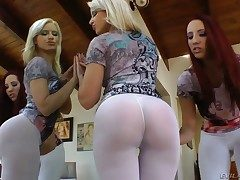 Annika Albrite and Kelly Divine spread their gams gams