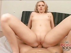 POV ass-fuck sex with a naughty phat arse blonde