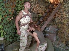 Redhead hottie Denise enjoys in all directions from over enormous admirer inseparable to the hairbrush soldier