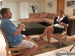 Lord it over added to hot pitch-dark milf hither X-rated beam piece of baggage added to
