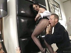 Lyen Parker is seductive Rocco Siffredis photos painless he spews his cumshots greater than pillar not tell who's who of face